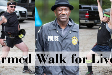 Armed Walk for Lives with Dont Comply and Come and Take it Texas