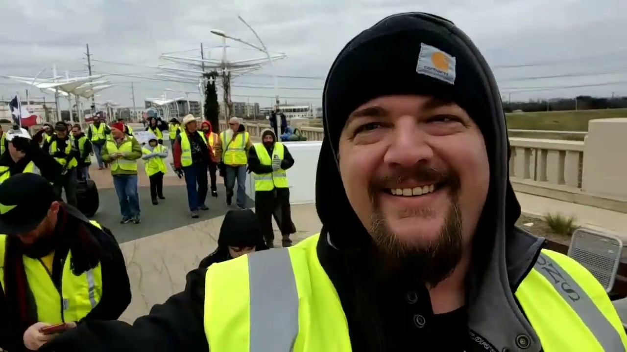S.O.N.S of Freedom Yellow Vest Guillotine March in Texas