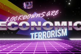 3D Live Wallpaper - Lockdowns are Economic Terrorism